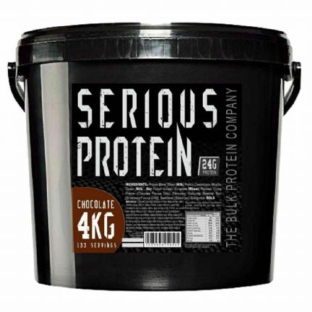 Serious Protein 4kg; Whey & Casein Blend; All Flavours; The Bulk Protein Company